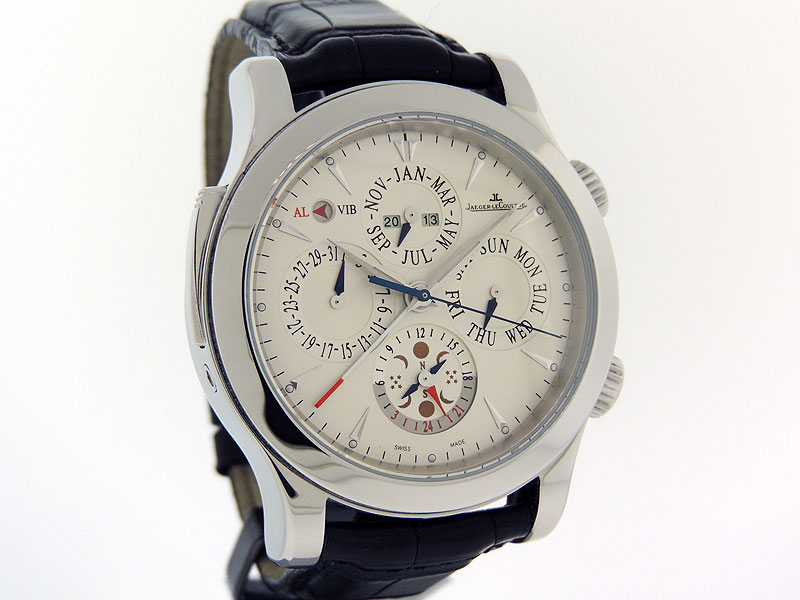 7f4da94ece3 Jaeger-LeCoultre Master Grand Reveil Perpetual Calendar Alarm MASTER  CONTROL 1000 HOURS 149.8.95 in a solid two-body Stainless Steel round ...